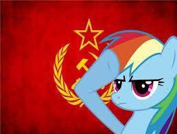 Image result for communist rainbow dash
