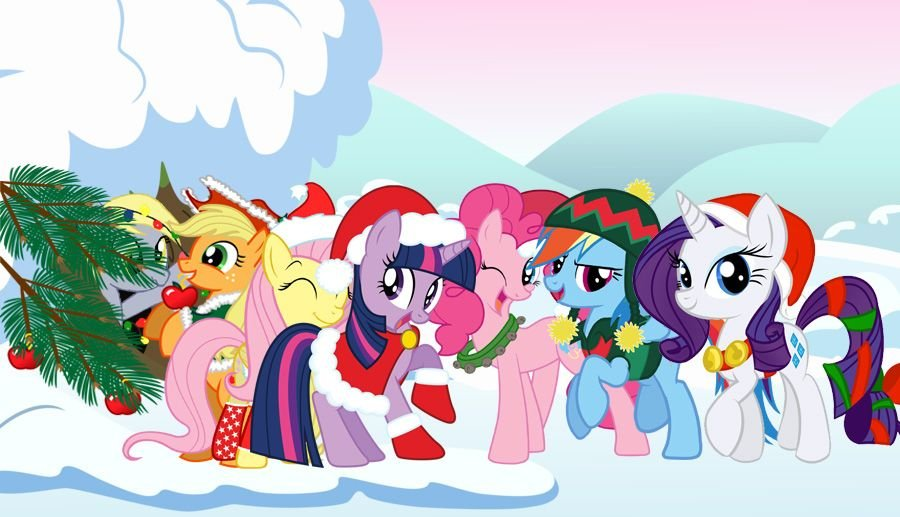 My Little Pony Christmas | My Little Pony Christmas Wallpaper by  HolsterNicholson on deviantART | Little pony, Christmas wallpaper, My  pretty pony