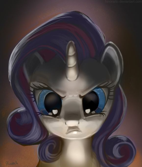 Image result for mlp rarity angry fanart