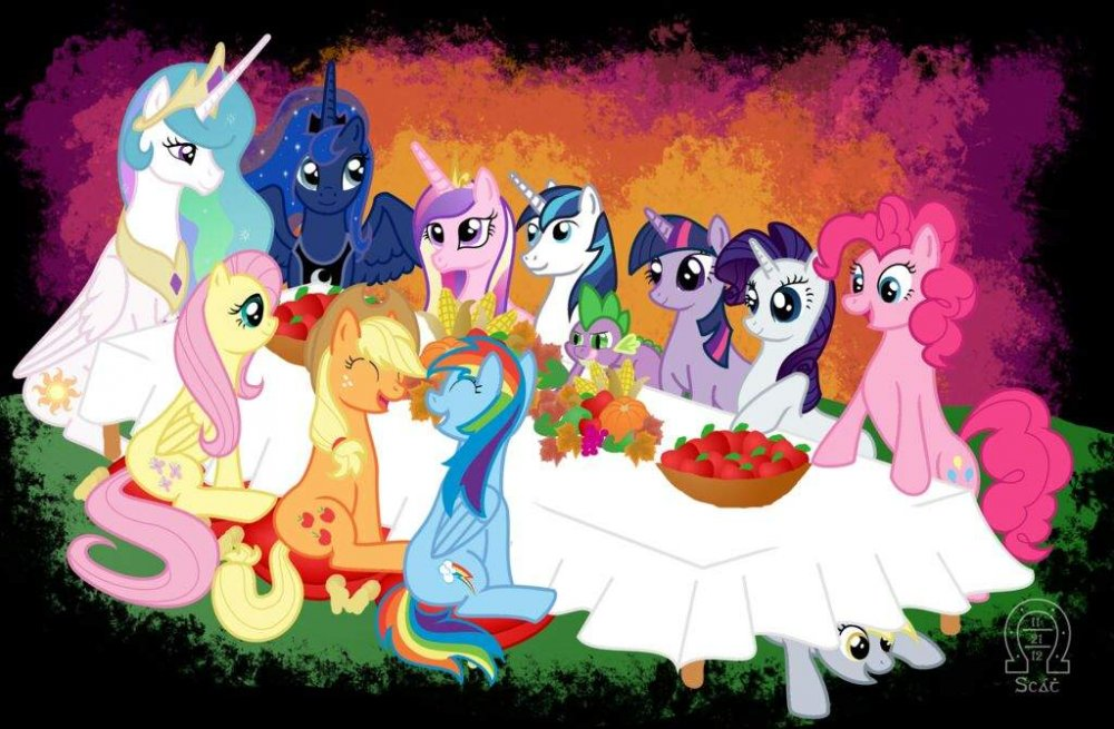 Image result for mlp thanksgiving