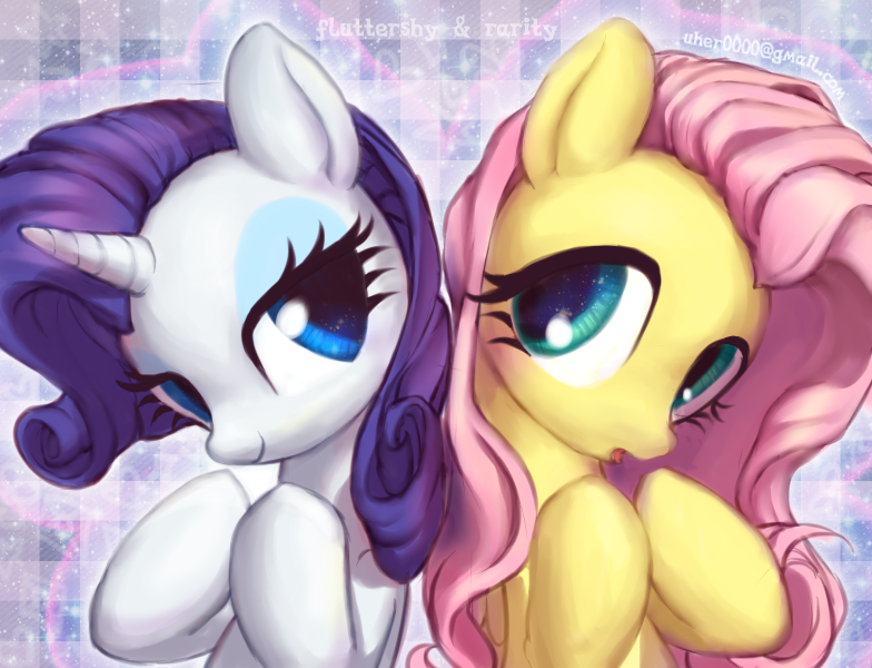 Image result for mlp rarity and fluttershy fanart