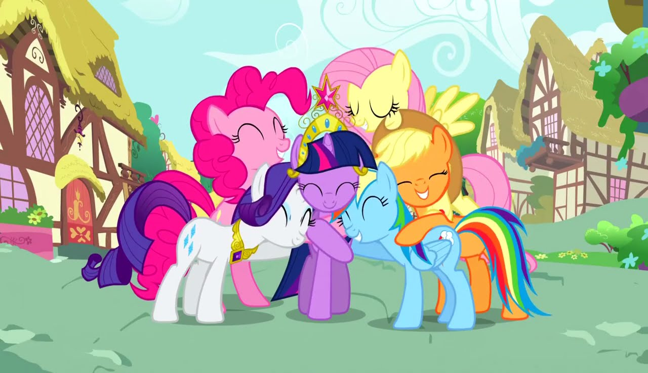 Every* Hug in My Little Pony : Friendship is Magic - YouTube