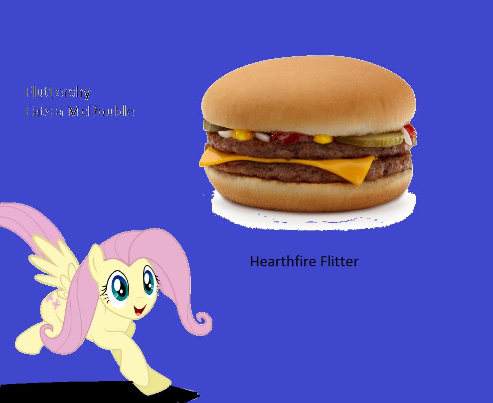 Humor] Fluttershy Eats a McDouble at McDonald's - Written
