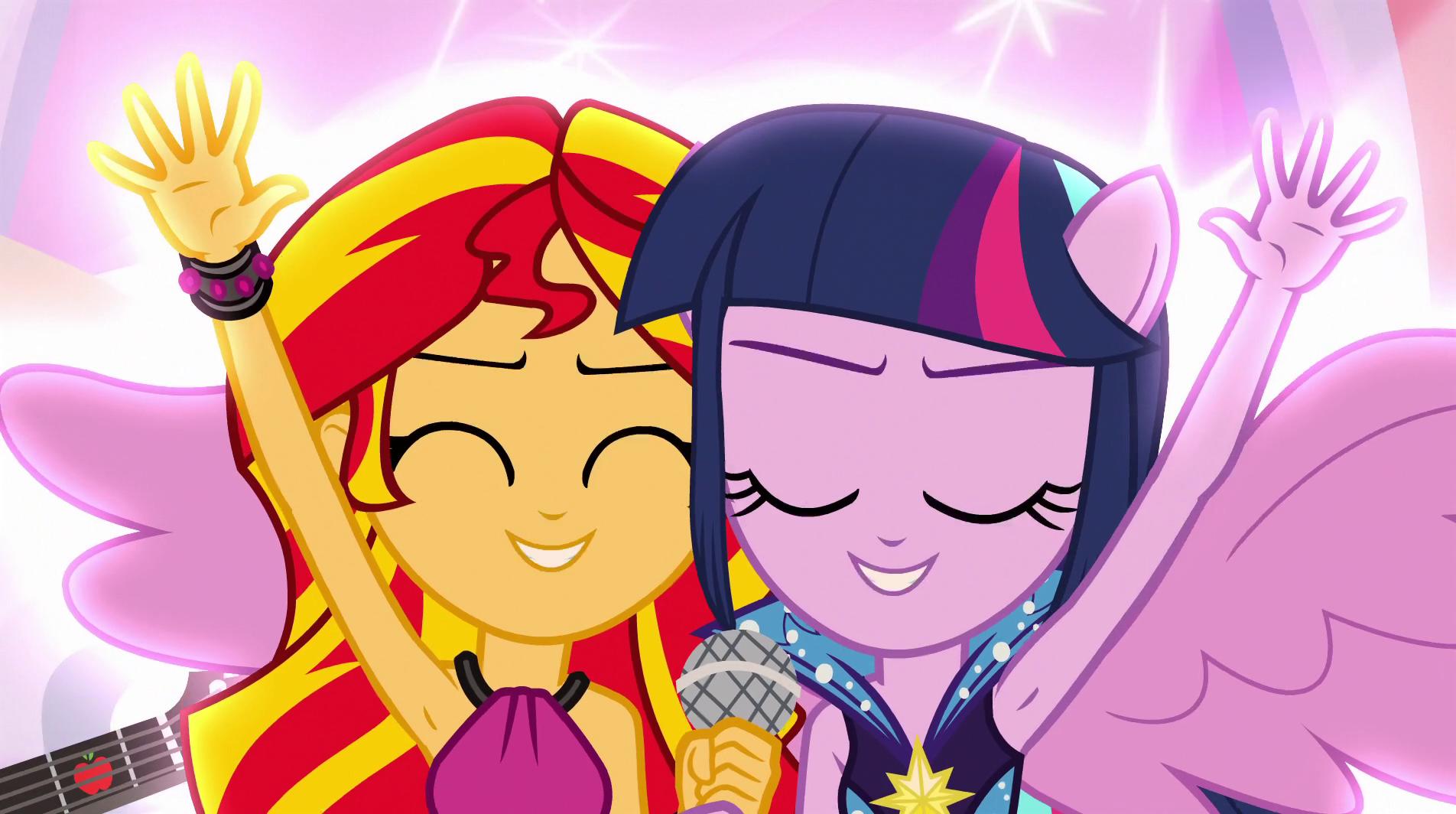 Sunset Shimmer Rainbow Rocks Singing