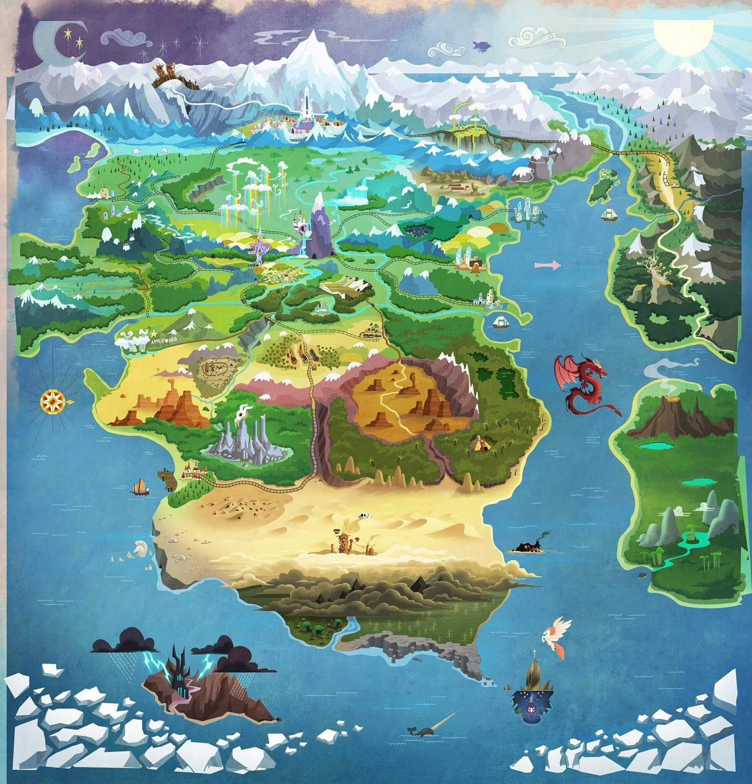 Mlp Equestria Map Map of Equestria expanded AGAIN   FiM Show Discussion   MLP Forums