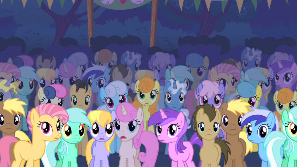 Ponies_stare_at_the_Cutie_Mark_Crusaders_S01E18.png