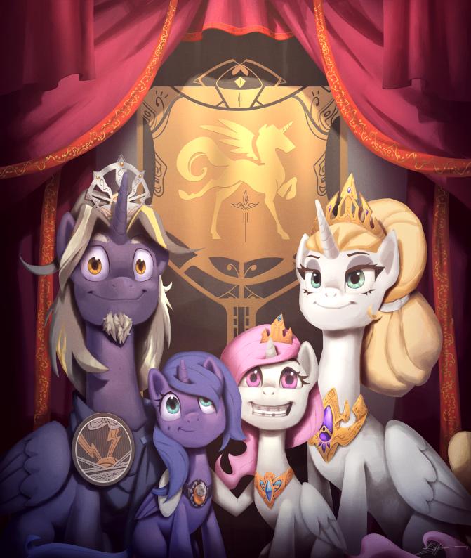 The Royal Family Pre Equestria Visual Fan Art Mlp Forums