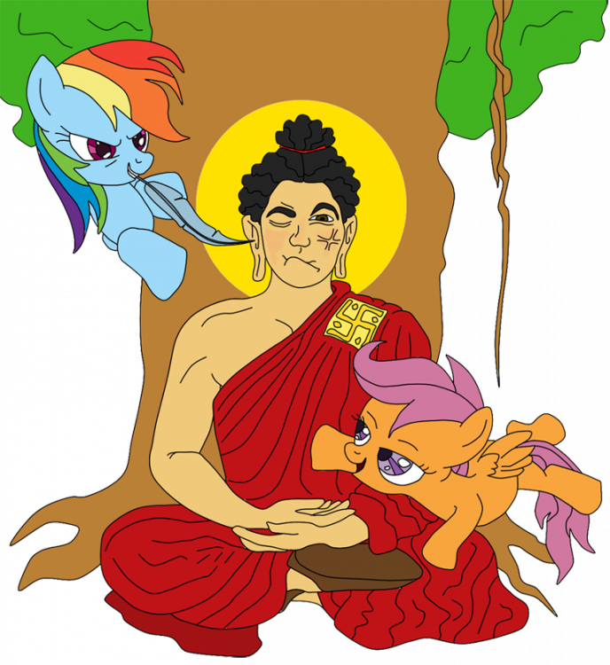 463181__safe_artist-colon-lycanianspike_rainbow+dash_scootaloo_buddha_buddhism_human_religion_religious_siddhartha+gautama_tickling_tree.png