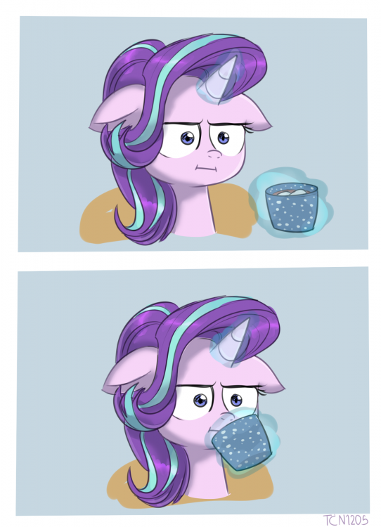 1748005__safe_artist-colon-tcn1205_starlight+glimmer_marks+for+effort_spoiler-colon-s08e12_chocolate_comic_cup_cute_female_floppy+ears_food_glimmerbete.png