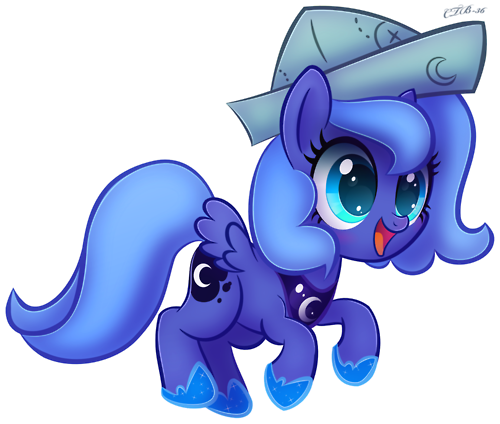 FANMADE_Filly_Luna_in_paper_hat.png
