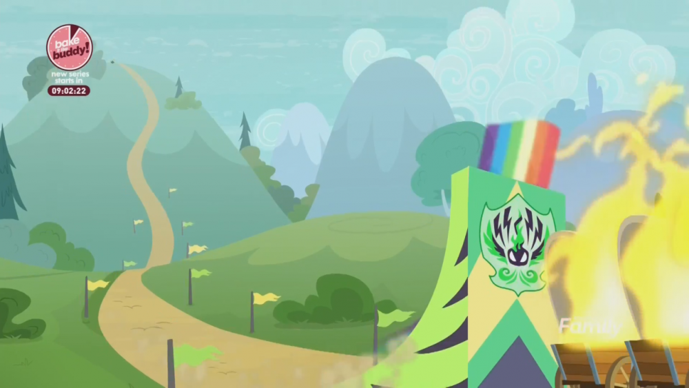 Rainbow Dash Flying Up Ramp