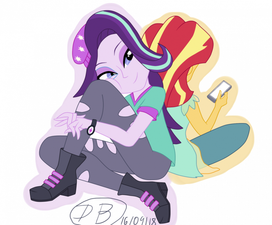 1248656246_1835467__safe_artist-colon-dawnbrightglint_starlightglimmer_sunsetshimmer_equestriagirls_-e_cellphone_hat_phone_simplebackground_sitting_smartp.thumb.png.4d1e58d43f3b4c86425c803a0ee62251.png