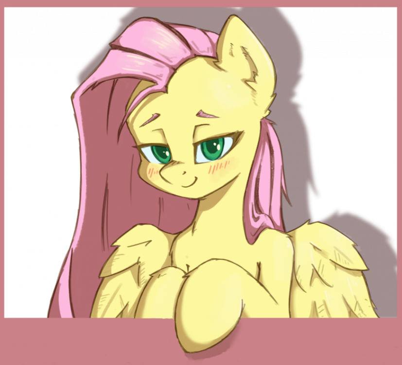 1857512__safe_artist-colon-danli69_fluttershy_blushing_bust_cute_female_followers_human+shoulders+on+a+pony_lidded+eyes_looking+at+you_mare_milestone_p.png