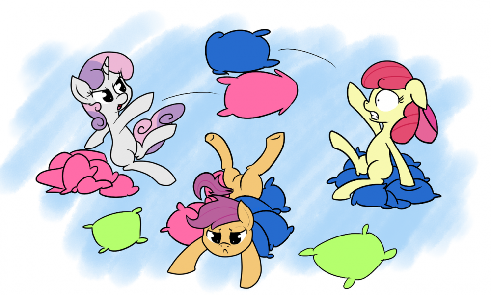 Cutie Mark Crusader pillow fight.png