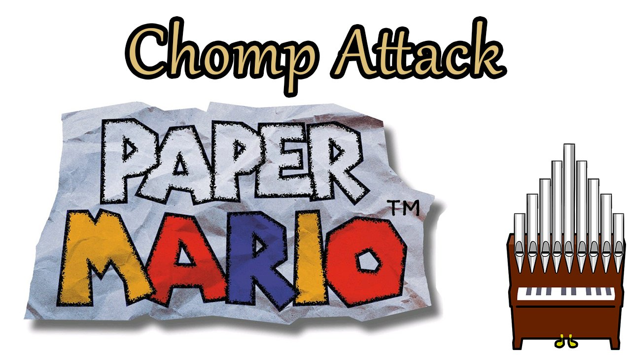Chomp Attack Paper Mario Organ Cover