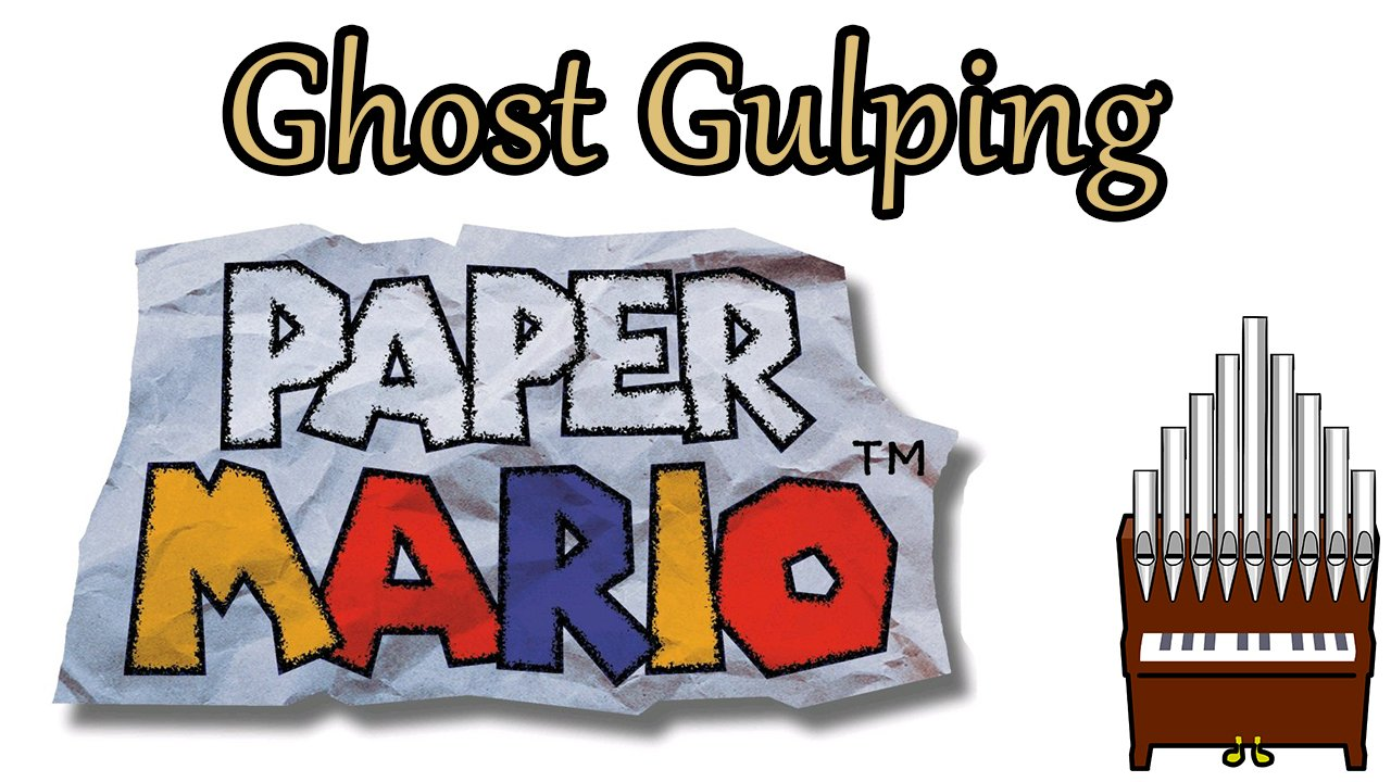 Ghost Gulping Paper Mario Organ Cover