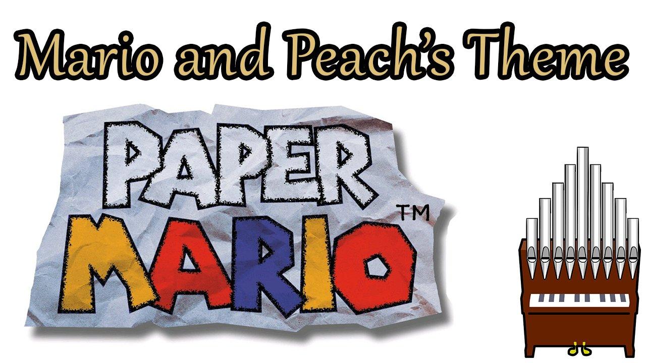 Mario and Peach's Theme Paper Mario Organ Cover