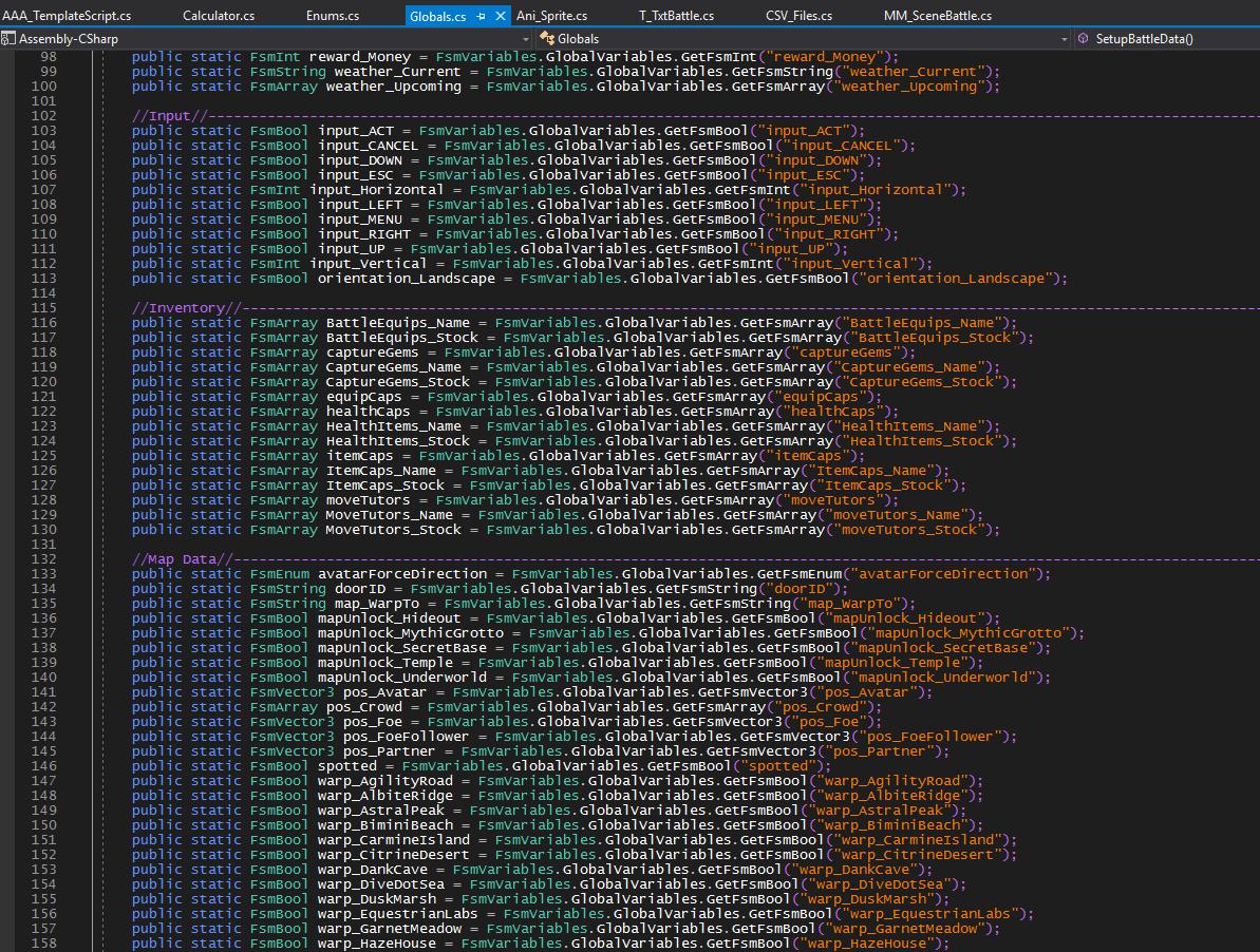 BGP (August DevLog): Variables n' Messes!