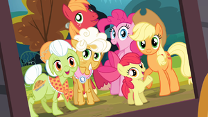 Framed_photo_of_the_Apples_and_Pinkie_S4E09.png.66eb560a0b4580a9fa4efca1f80ac983.png