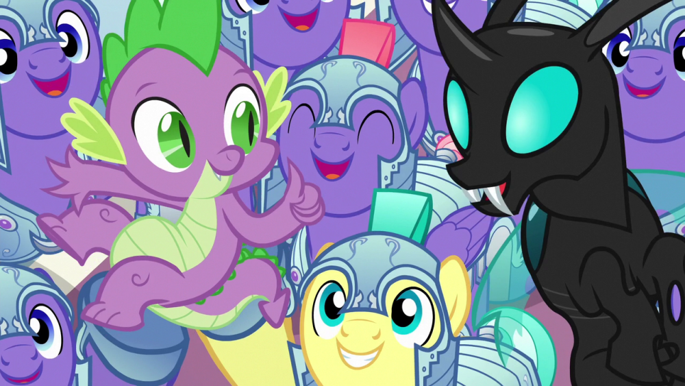 Royal_guards_cheer_for_Spike_and_Thorax_S6E16.thumb.png.e87c8154415dc7858e3de51f684e5bbf.png