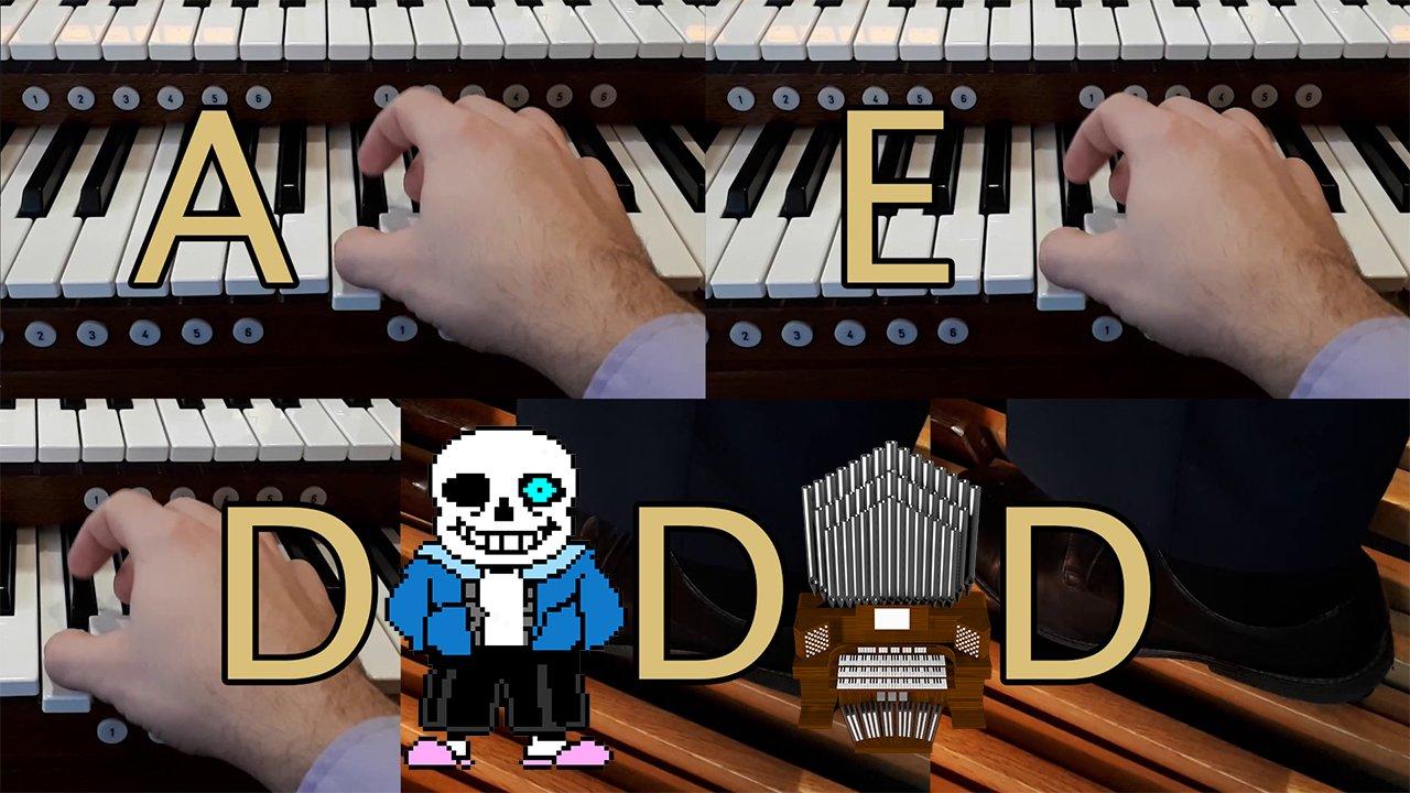 1% Organ Skills 99% Editing Skills, Feat. Megalovania (Undertale) by Toby Fox