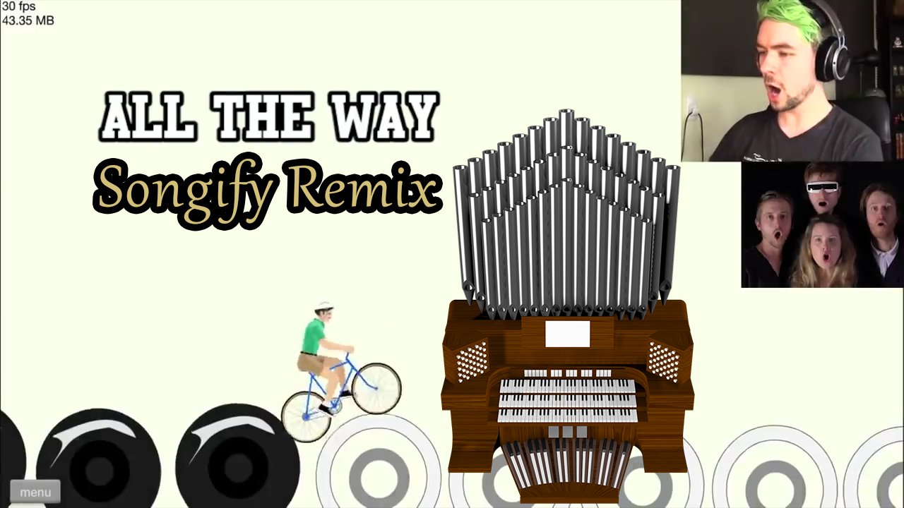 All The Way (Jacksepticeye Songify Remix by Schmoyoho) Organ Cover